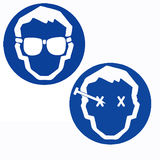 Óculos de proteção de segurança do desgaste Fotos de Stock