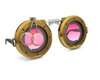 Óculos de proteção de SteamPunk Imagem de Stock Royalty Free