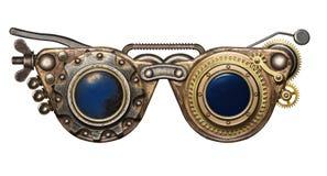 Óculos de proteção de Steampunk foto de stock royalty free