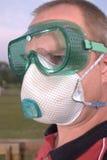 Óculos de proteção do respirador & de segurança Fotos de Stock Royalty Free