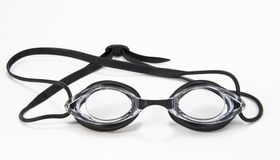 Óculos de proteção pretos da natação Imagem de Stock