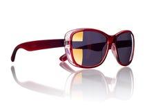 Óculos de sol à moda do ` s das mulheres isolados em um branco Foto de Stock Royalty Free