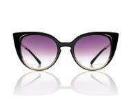 Óculos de sol à moda do ` s das mulheres isolados no branco Imagens de Stock
