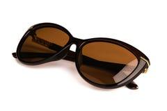 Óculos de sol à moda do ` s das mulheres isolados no fundo branco Fotografia de Stock