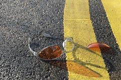 Óculos de sol alaranjados Imagens de Stock