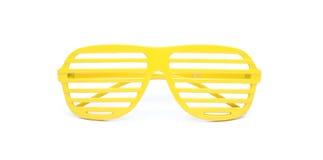 Óculos de sol amarelos Fotografia de Stock Royalty Free