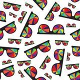 Óculos de sol com os vidros coloridos isolados no branco Imagens de Stock Royalty Free