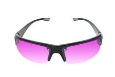Óculos de sol cor-de-rosa, isolados no branco Fotos de Stock Royalty Free
