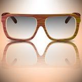 Óculos de sol de madeira Fotografia de Stock Royalty Free