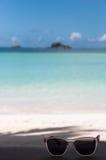 Óculos de sol de Seychelles Fotografia de Stock