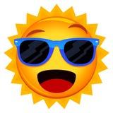 Óculos de sol desgastando de Sun ilustração stock