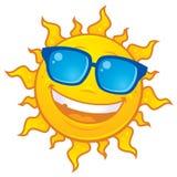 Óculos de sol desgastando de Sun ilustração do vetor