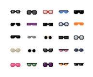 Óculos de sol do pixel ajustados Fotografia de Stock