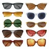 Óculos de sol do verão ajustados ilustração do vetor