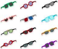 Óculos de sol dos desenhos animados ajustados Foto de Stock Royalty Free