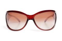Óculos de sol na borda marrom fotos de stock