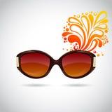 Óculos de sol na moda realísticos da mulher ilustração do vetor