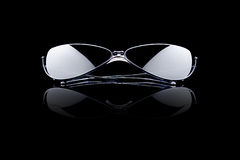 Óculos de sol no preto Imagens de Stock