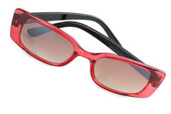 Óculos de sol pretos e vermelhos Imagem de Stock Royalty Free