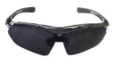 Óculos de sol pretos isolados em um fundo branco Imagem de Stock Royalty Free
