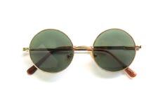 Óculos de sol redondos no fundo branco Fotografia de Stock