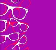 Óculos de sol retros do moderno do teste padrão ilustração stock