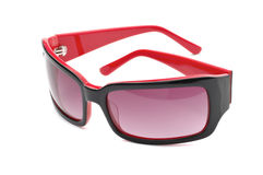 Óculos de sol vermelhos e pretos Fotos de Stock Royalty Free