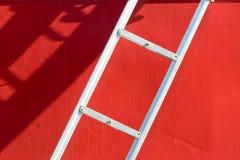 łódka czerwony drabinowy white Obrazy Royalty Free