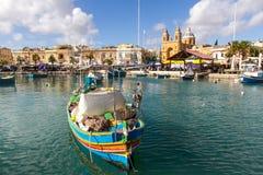 łódka jest rybakiem Obraz Royalty Free