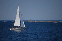 łódka rejsów morza Obrazy Stock