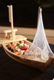 łódka sushi Zdjęcie Royalty Free