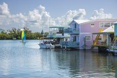 Łódkowaci domy Zdjęcia Royalty Free
