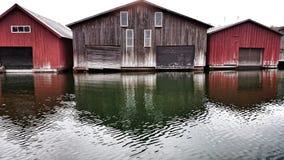 Łódkowaci domy Zdjęcie Royalty Free