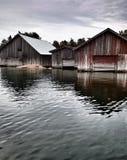 Łódkowaci domy Fotografia Stock