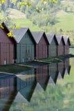 Łódkowaci domy Norwegia Obraz Royalty Free