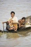 łódkowaci ludzie Zdjęcie Royalty Free