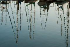 Łódkowaci odbicia Fotografia Stock