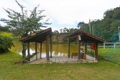 Łódkowata rampa jeziorem Zdjęcia Royalty Free