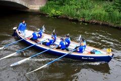 Łódkowata rasa Na kanale Zdjęcia Stock