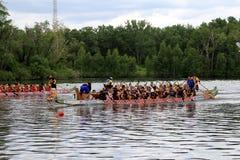 łódkowata smoka festiwalu rasa Obraz Royalty Free