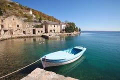 łódkowata wioska rybacka Zdjęcia Royalty Free