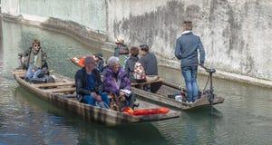 Łódkowata wycieczka na kanale Zdjęcie Stock