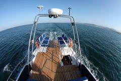 Łódkowata wycieczka na wysokich morzach Zdjęcie Royalty Free