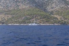 Łódkowata wycieczka w Chorwacja Obrazy Royalty Free