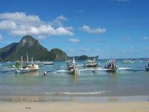Łódkowate wycieczki turysyczne Palawan Zdjęcia Royalty Free