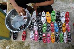 Łódkowate zabawki Obrazy Royalty Free