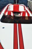 łódkowaty czerwony biel Zdjęcie Royalty Free