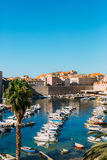 Łódkowaty dok blisko starego miasta Dubrovnik, Chorwacja Harbo Fotografia Stock