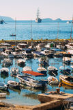Łódkowaty dok blisko starego miasta Dubrovnik, Chorwacja Harbo Fotografia Royalty Free