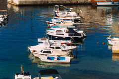 Łódkowaty dok blisko starego miasta Dubrovnik, Chorwacja Harbo Zdjęcie Stock